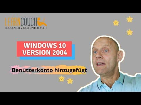 Benutzeraccount in Windows 10: Benutzerkonto in Windows 10 anlegen